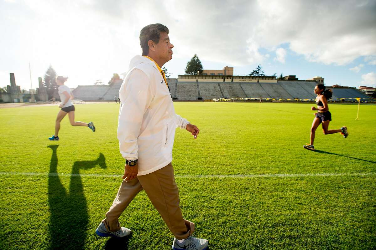 Tony Sandoval, head coach for Cal track and field, attends a practice on Monday, Nov. 21, 2016, in Berkeley, Calif.