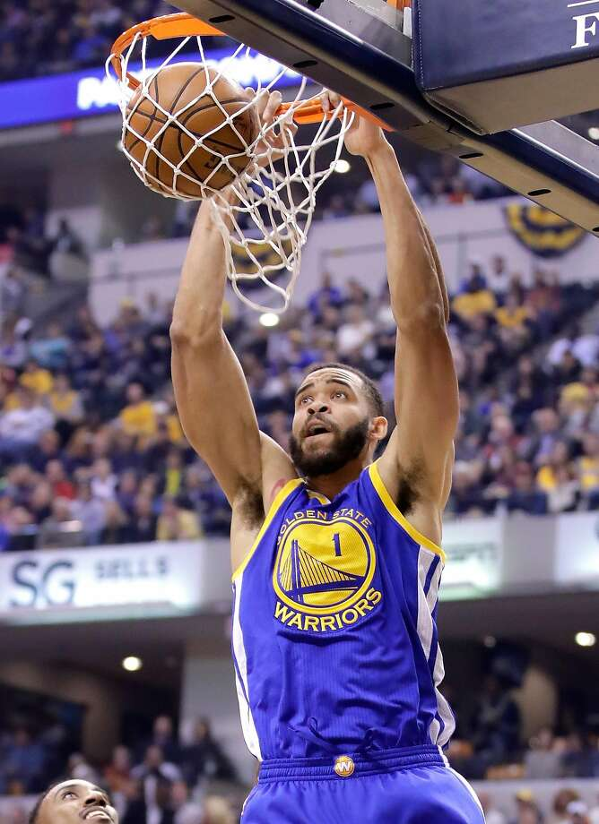 INDIANAPOLIS, IN - NOVEMBER 21: JaVale McGee #1 of the Golden State Warriors dunks the ball during the game against the Indiana Pacers at Bankers Life Fieldhouse on November 21, 2016 in Indianapolis, Indiana.    NOTE TO USER: User expressly acknowledges and agrees that, by downloading and or using this photograph, User is consenting to the terms and conditions of the Getty Images License Agreement  (Photo by Andy Lyons/Getty Images) Photo: Andy Lyons, Getty Images