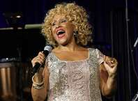 """FILE - In this Oct. 17, 2013 file photo, singer Darlene Love performs at the """"Right To Rock Benefit"""" at Cipriani Wall Street in New York. Love will sing """"Christmas (Baby Please Come Home)"""" for the 21st and final time on Letterman's annual holiday show. He's retiring from the """"The Late Show with David Letterman"""" next May. (Photo by Greg Allen/Invision/AP, File)"""