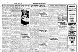 Houston Chronicle inside page (HISTORIC) – October 23, 1920 - section 1, page 5. Caruso Immensely Pleased With Responsiveness of Houston Audience