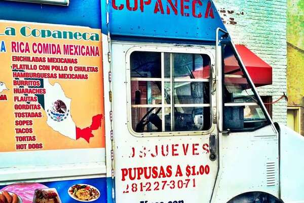 A Houston taco truck that sells both Honduran and Mexican food.