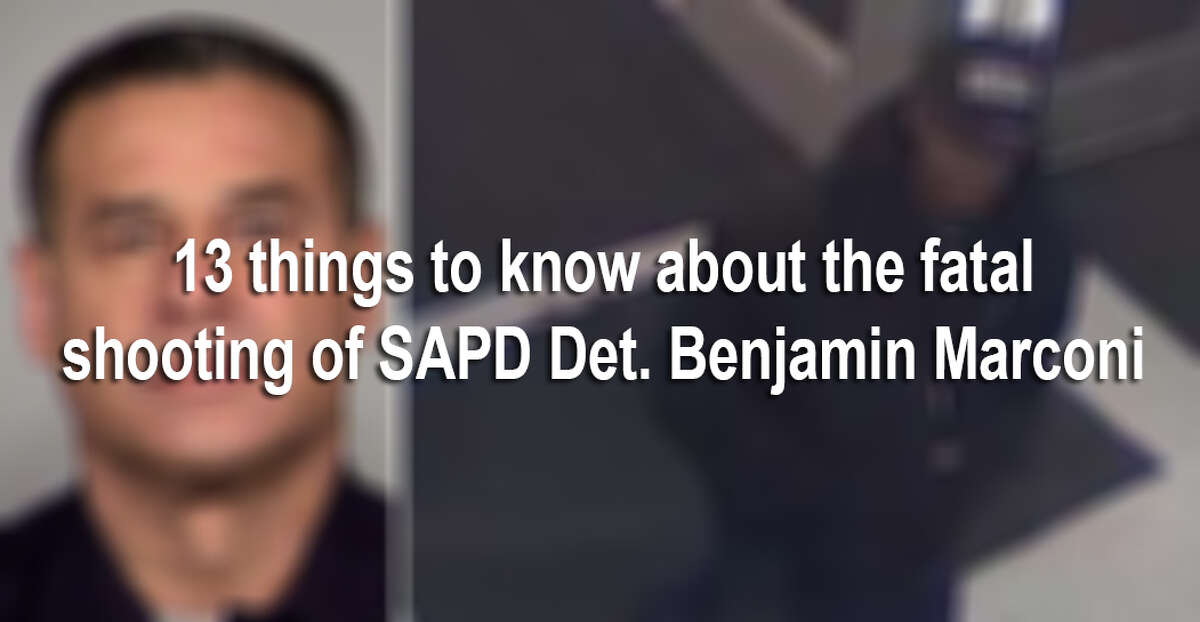 The fatal shooting of SAPD Det. Benjamin Marconi outside SAPD headquarters shook San Antonio Sunday, Nov. 20, 2016, as the community grieved for a fallen officer and police began a 30-hour manhunt for the suspect. Here are 13 things to know about the fatal shooting of SAPD Det. Benjamin Marconi.