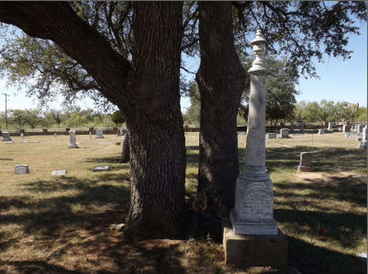 Breckenridge Cemetery in Stephens County, Texas, is home to a section known as