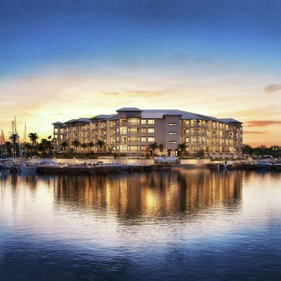 The Shoreline, a luxury condominium building, is being developed along Lake Conroe. Photo: Courtesy Of Winkler Development