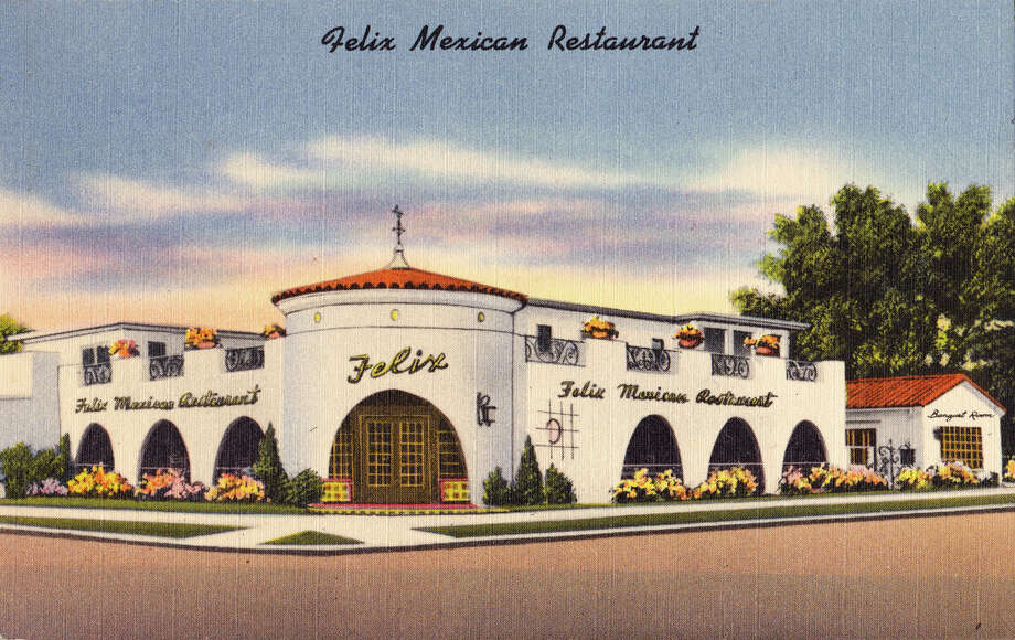 Felix Mexican Restaurant, on Westheimer near Montrose (now the restaurant Uchi). Felix Tijerina, who founded the chain, was active in Houston politics,  and a national president of LULAC, the League of United Latin American  Citizens.