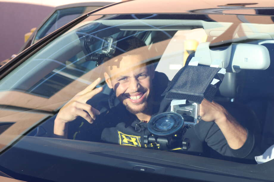 Warriors star Stephen Curry appears on CSN Bay Area's 'Carpool Confession' with Dave Feldman and Ahmed Fareed. Photo: CSN Bay Area/Courtesy