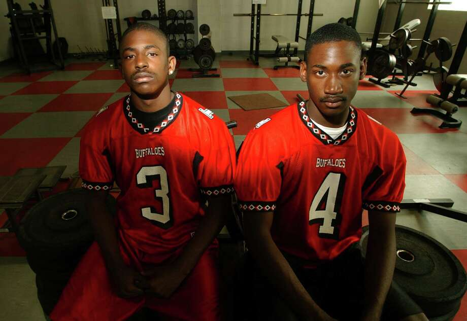 1. Otis Tyrone McKane was born in San Antonio in 1985 and attended Fox Tech High School in 2003, where he played wide receiver on the varsity football team. He is seen here on the right in July 2003 with Ronnie McKane (left). Photo: EDWARD A. ORNELAS, SAN ANTONIO EXPRESS-NEWS / SAN ANTONIO EXPRESS-NEWS