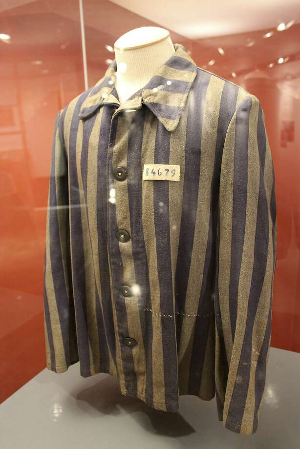 This jacket was once worn by a Holocaust survivor who lived in the Queens borough of New York. Photo: Frank Eltman, Associated Press
