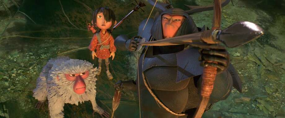"""Kubo and the Two Strings"" is a motion animated film from Focus follows the tale of young boy who must hide from and eventually battle his aunts and grandfather with only his magical musical instrument, a monkey and a giant warrior beetle to protect him."