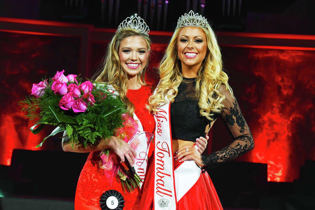 2017 Miss Tomball Kyla Hall and 2016 Miss Tomball Hanna Carroll.