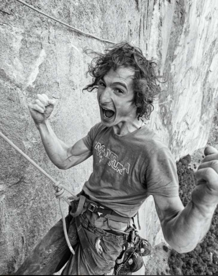 Adam Ondra on his Dawn Wall push, celebrating after he finished the most difficult pitches of the climb on Nov. 20, 2016. Photo: Courtesy Of Heinz Zak And Black Diamond Equipment