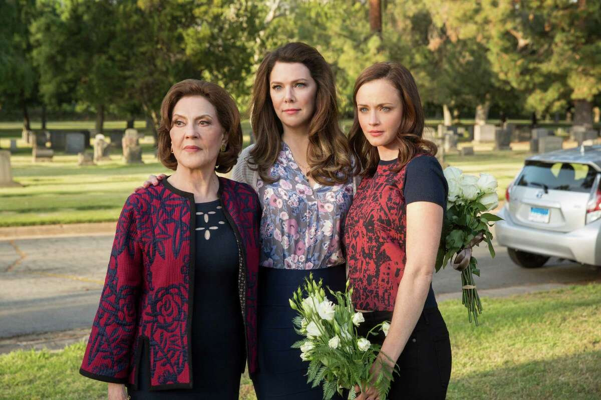 """(Left to Right) Kelly Bishop, Lauren Graham, and Alexis Bledel in """"Gilmore Girls: A Year in the Life."""""""