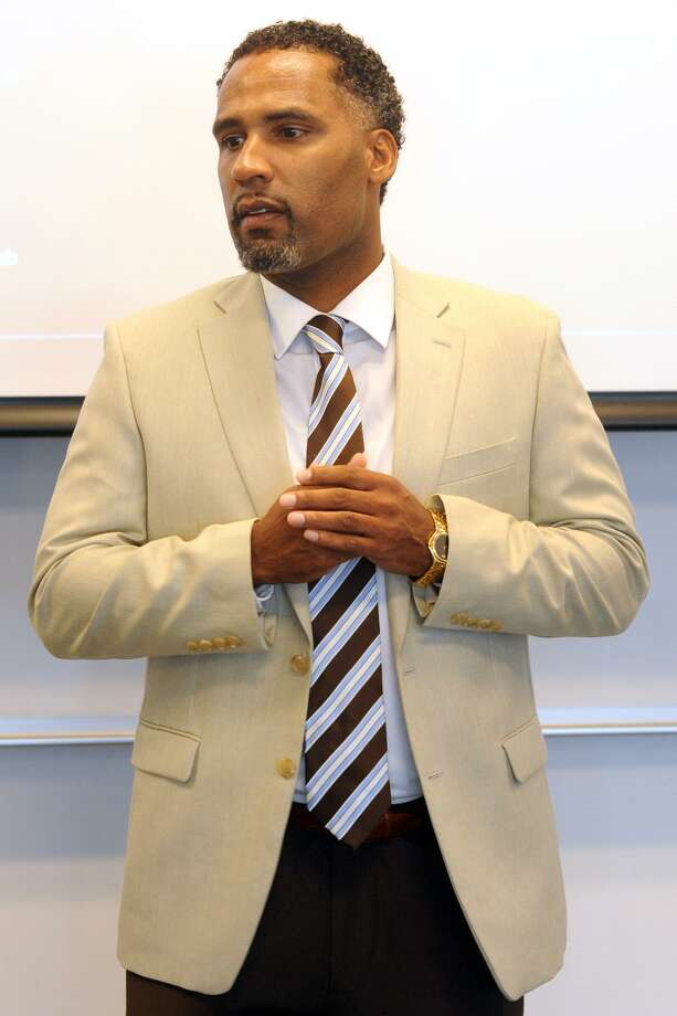 Police Lt. Lonnie Blackwell, the head of the Police Department's minority officers' organization, was demoted to sergeant on Tuesday, Nov. 22, 2016. Photo: Ned Gerard / Hearst Connecticut Media / Connecticut Post