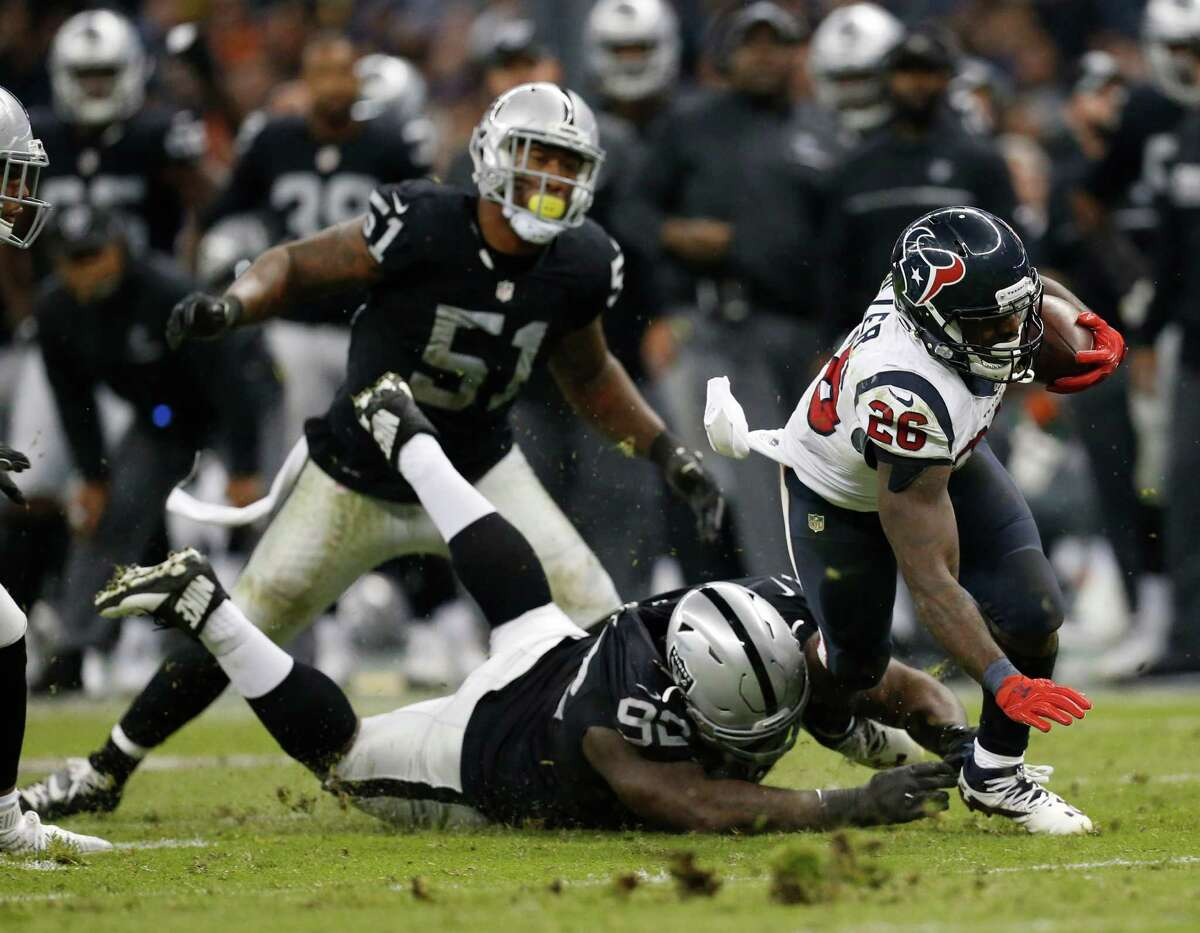 The Texans are ranked fourth in rushing, averaging 121.7 yards per game behind running back Lamar Miller's (26) 824 yards, good for fifth in the league.