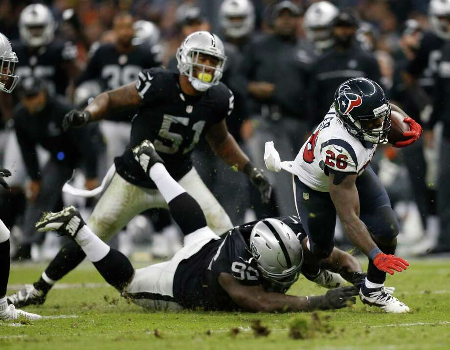 The Texans are ranked fourth in rushing, averaging 121.7 yards per game behind running back Lamar Miller's (26) 824 yards, good for fifth in the league. Photo: Brett Coomer, Staff / © 2016 Houston Chronicle