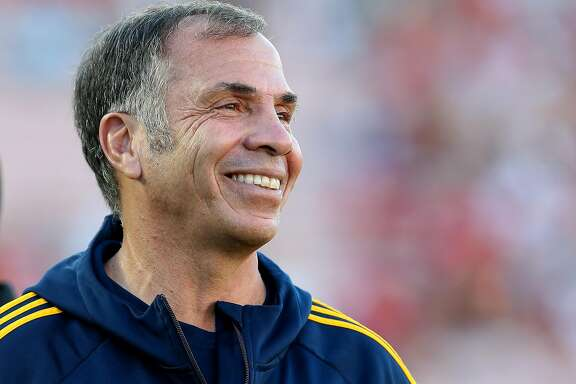FILE - NOVEMBER 22: U.S. Soccer names Bruce Arena as the new coach for the U.S. Men's National team, Arena held the title from 1998 to 2006. PASADENA, CA - JULY 23:  Head coach Bruce Arena of the Los Angeles Galaxy smiles before the match with Manchester United at the Rose Bowl on July 23, 2014 in Pasadena, California. Manchester United won 7-0.  (Photo by Stephen Dunn/Getty Images)