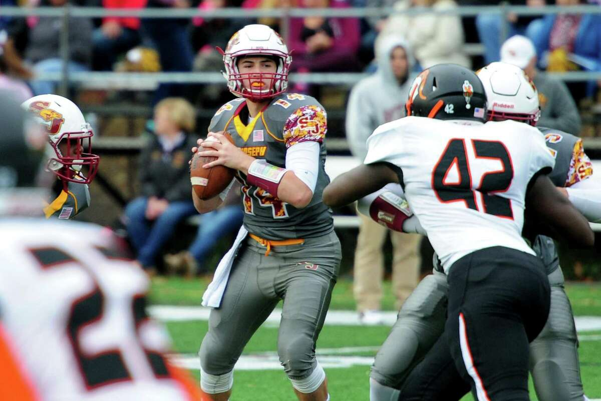 St. Joseph senior quarterback Cory Babineau, a three-year starter, has thrown 26 touchdown passes and only two interceptions.