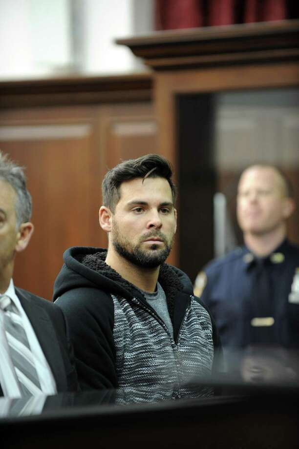 Lawrence Dilione, who has been charged in connection with the stabbing death of Joey Comunale of Stamford, Conn, was arraigned in Criminal Court in New York on Friday, Nov. 18, 2016. Dilone was charged with concealment of a human corpse, tampering with physical evidence and hindering prosecution. He was not arraigned on the second-degree murder charge that the New York Police Department arrested him for on Thursday. Photo: Sam Costanza / NY Daily News Via Getty Images / 2016/Daily News, L.P. (New York)  Sam Costanza/NY Daily News via Getty Images