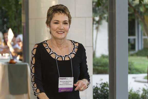 Beverly McClure, president of Impact San Antonio, at the grant award night reception, Oct. 19.