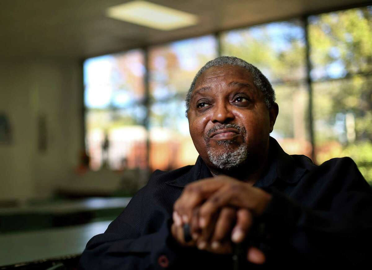 """Ed Banks, who is known as the """"Mayor of Third Ward,"""" sits for a portrait at the Third Ward Multi-Service Center, Monday, Nov. 21, 2016, in Houston. ( Jon Shapley / Houston Chronicle )"""