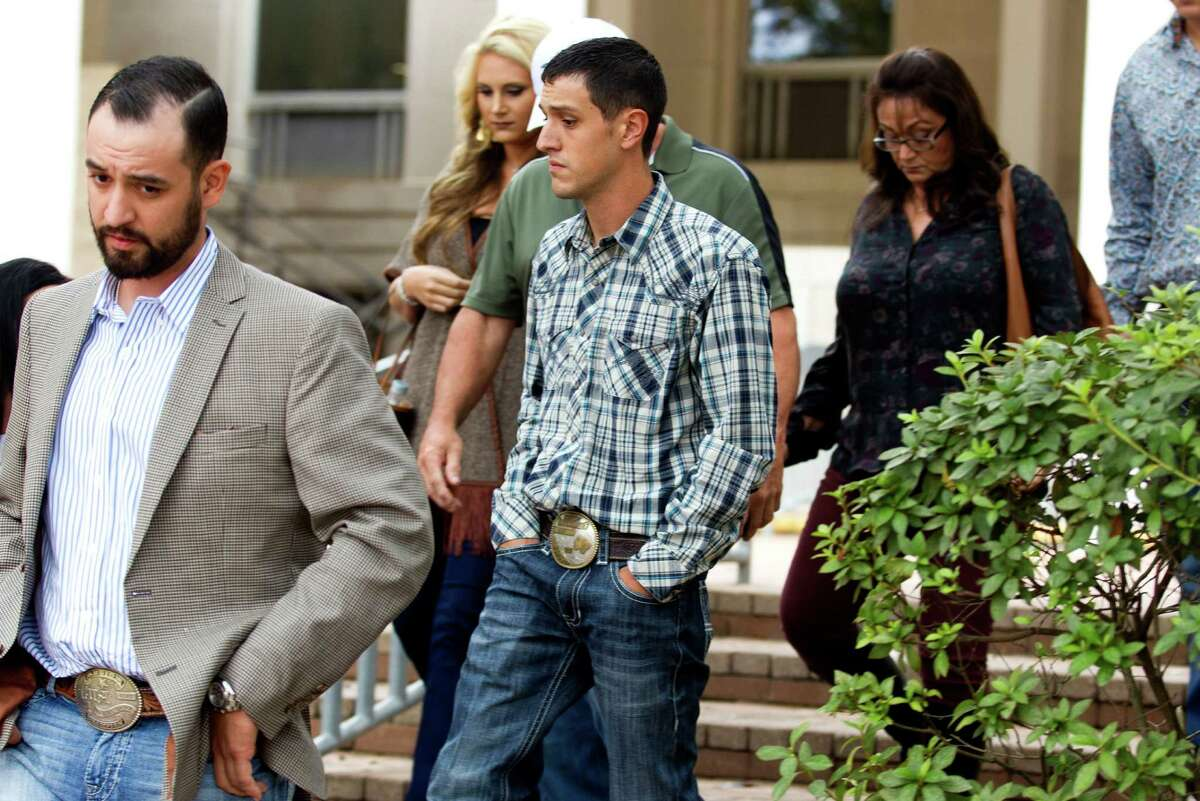 Jurors could not unanimously agree that the intoxication of Brian Goetz, center, caused the 2012 crash that killed two people riding in his vehicle. He received three DWI convictions instead.