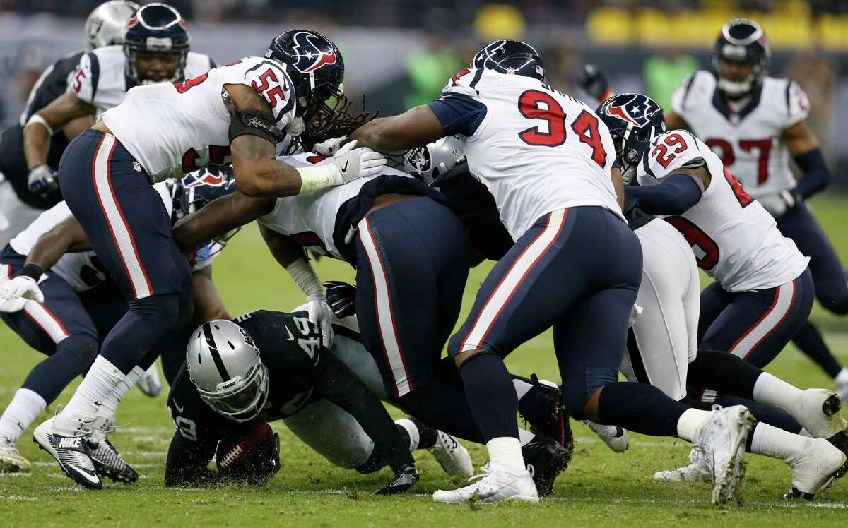 Four things to watch   DEFENSE CAN'T COLLAPSE Romeo Crennel's defense was outstanding against Oakland, helping the Texans build a seven-point lead before cratering in the fourth quarter and allowing two long touchdown passes in the defeat. They can't repeat that kind of performance against quarterback Philip Rivers, who has 20 touchdown passes and 11 interceptions. Rivers will pick them apart down the field. He works the sidelines and the middle of the field as well as any quarterback. He's competitive and fearless and determined to win.