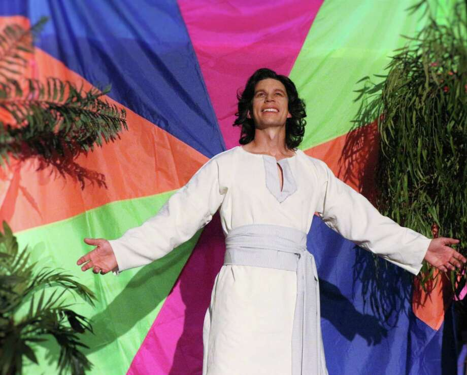 """Travis Eades plays Joseph in the Woodlawn Theatre's staging of """"Joseph and the Amazing Technicolor Dreamcoat."""" Photo: Courtesy Photo"""