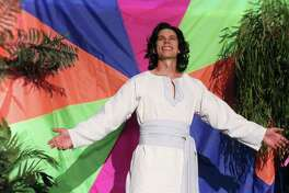"""Travis Eades plays Joseph in the Woodlawn Theatre's staging of """"Joseph and the Amazing Technicolor Dreamcoat."""""""