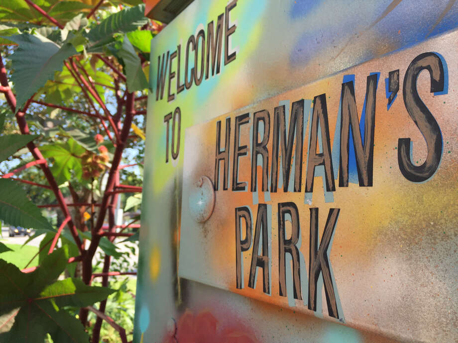 """Munsterman moved into the 620 square foot building  early this year and named his home """"Herman's Park.""""  Photo: Lucas Masllorens / Modest Digs"""