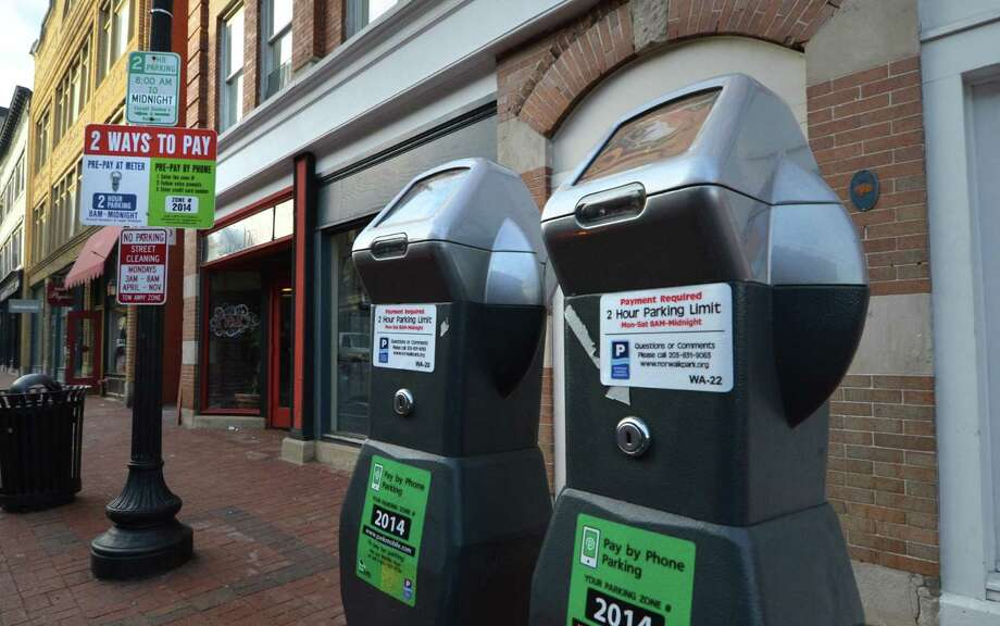 The Norwalk Parking Authority is offering free parking in Norwalk, Conn. on Saturday, Nov. 26, 2016, in recognition of the Small Business Saturday promotion encouraging shopping at local stores. Photo: Alex Von Kleydorff / Hearst Connecticut Media / Connecticut Post