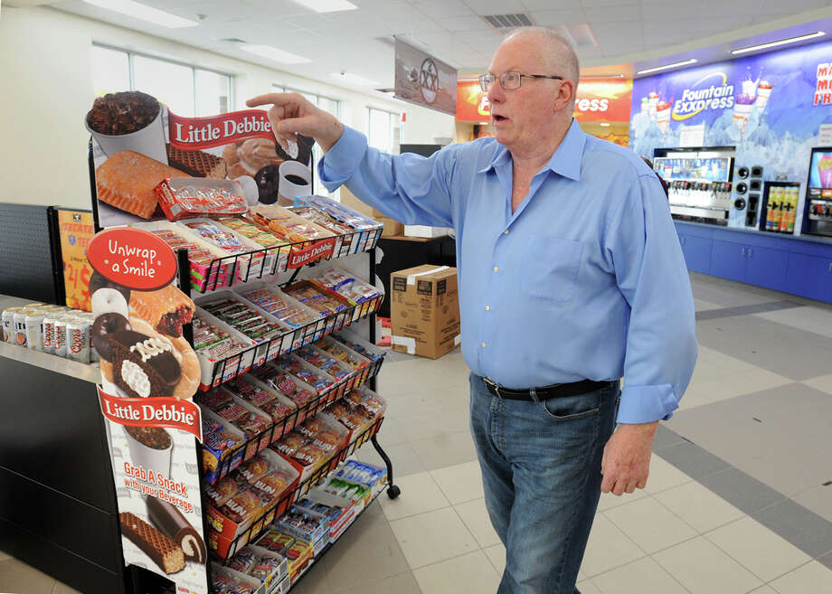 Ron Nicklas Tried Con manager talks Thursday about stocking the Express Mart near Lamar University before its upcoming grand opening. The facility is one of several large convenience stores opening in the area. Photo taken Thursday, November 17, 2016 Guiseppe Barranco/The Enterprise Photo: Guiseppe Barranco, Photo Editor