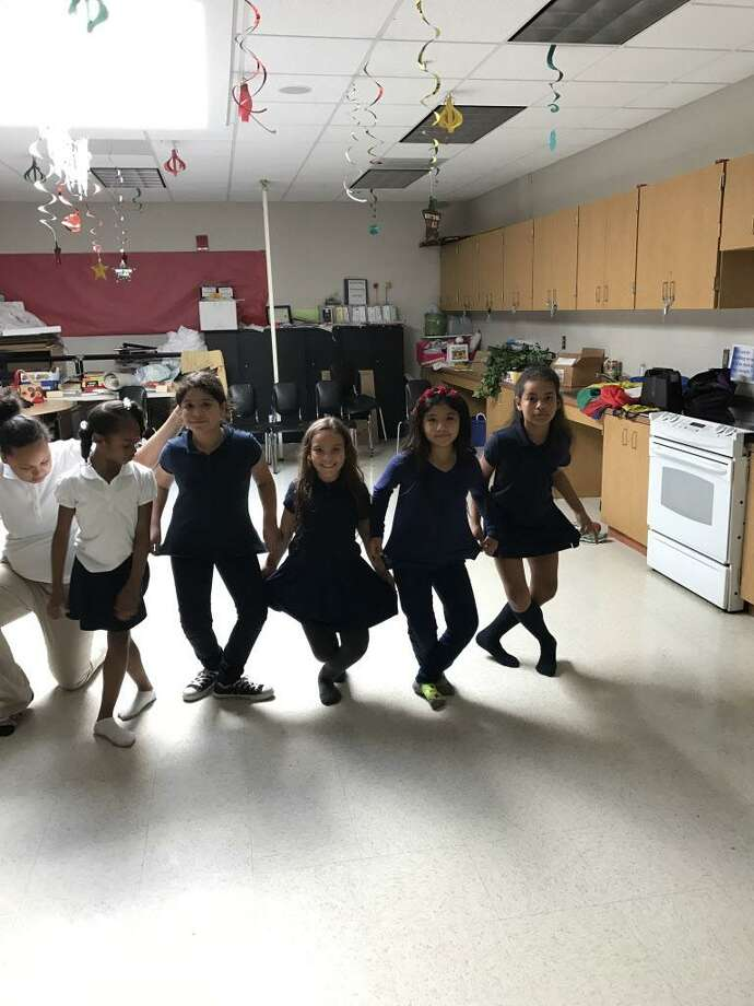 Students at Barnum School in Bridgeport practice for the Nutcracker Photo: Contributed / Contributed
