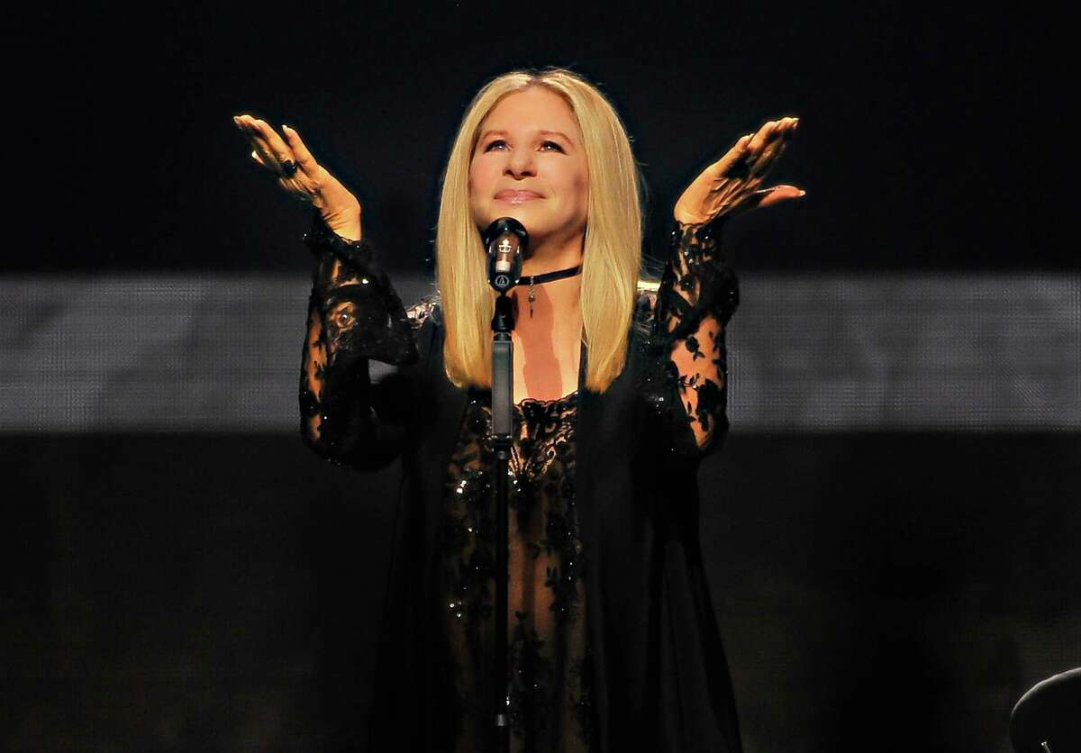 SAN JOSE, CA - AUGUST 4: Barbra Streisand performs onstage during the Barbra - The Music... The Mem'ries... The Magic! Tour at SAP Center on August 4, 2016 in San Jose, California.