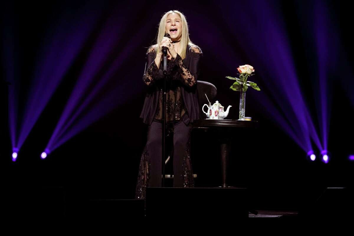 Barbra Streisand performs at Barclays Center in New York, Aug. 11, 2016. The show lasted well north of two hours and is part of a nine-city tour with a mouthful title, éBarbra: The Musicé?- the Memériesé?- the Magic!.é (Chad Batka/The New York Times)