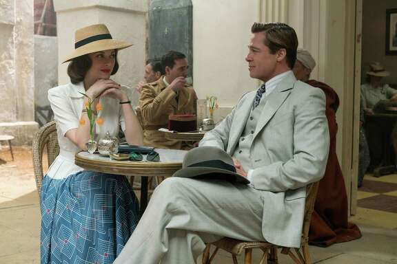 """Marion Cotillard stars as Marianne Beausejour, suspected of working for the Germans, opposite Brad Pitt as Max Vatan in """"Allied,"""" directed by Robert Zemeckis."""