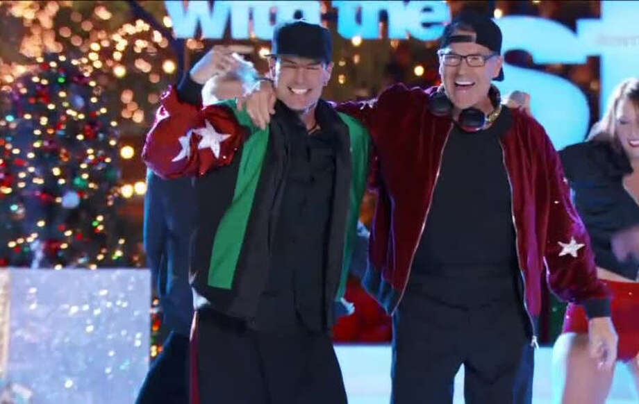 "Former Texas Gov. Rick Perry (left) and rapper Vanilla Ice teamed up Tuesday night on the season finale of ""Dancing with the Stars."" Perry played DJ while Vanilla Ice did his hit ""Ice Ice, Baby"" before the two met for a couple of dance moves and a fist bump. Photo: ABC Dancing With The Stars"