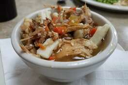 I added a cup of turkey soup to my meal at the Turkey Hut, 3420 N. Isabella (M-20). It was flavorful.