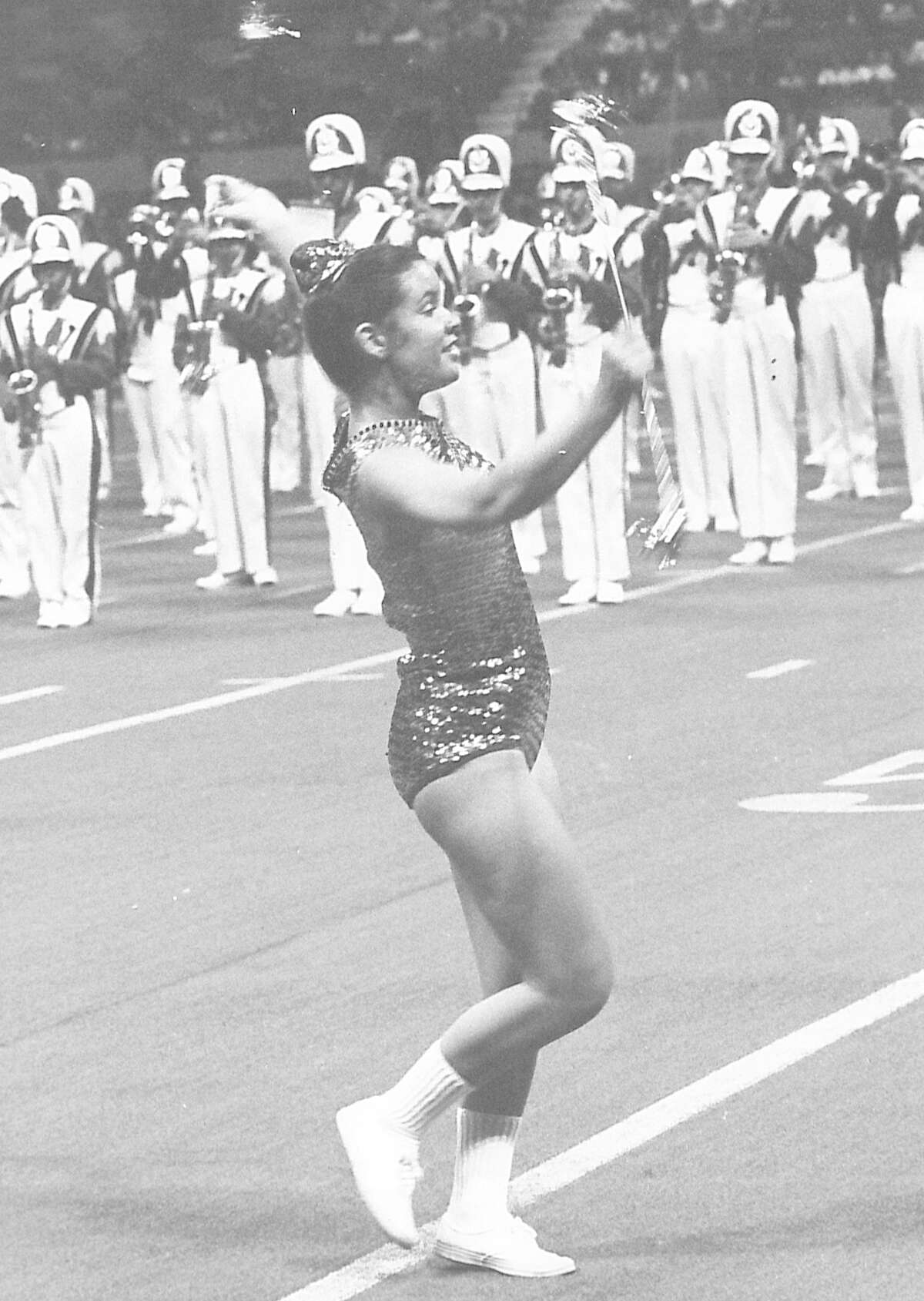 Feature twirler Mary Bonnette Photo undated