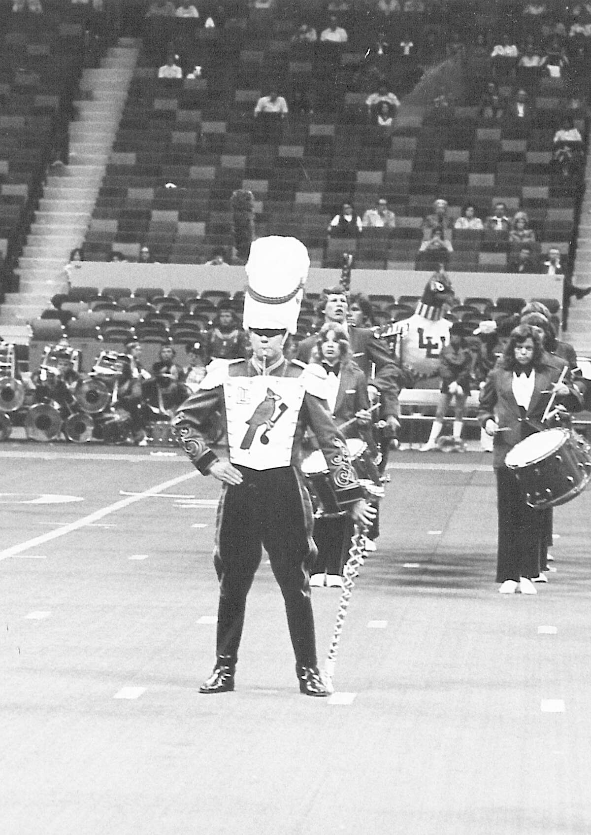 Carl Albright performs with the Lamar University Marching Band. Photo undated