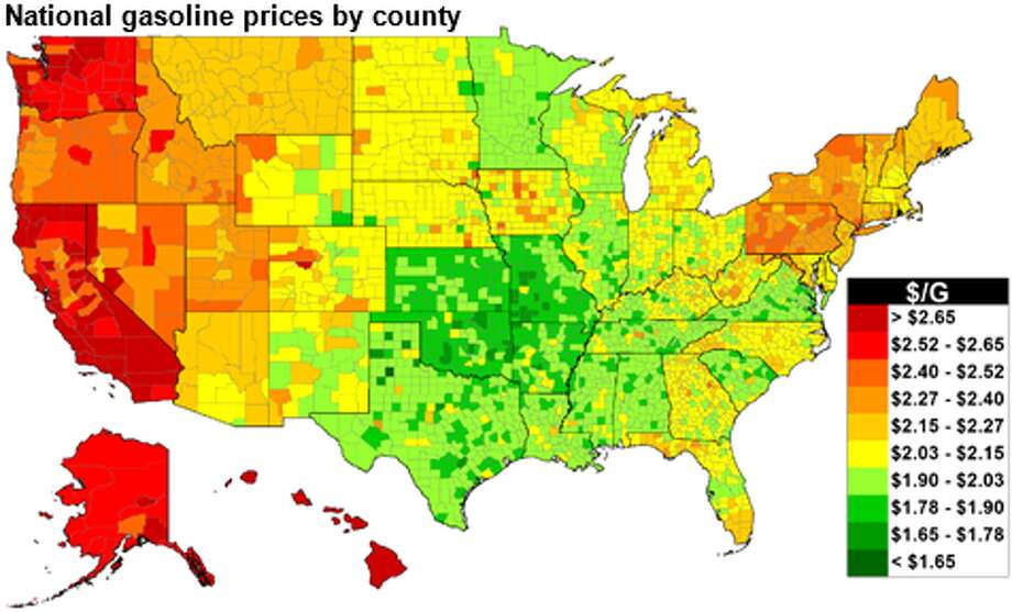 Retail regular-grade gasoline averaged $2.16 a gallon, up 6 cents from the same time last year and marking the second-lowest price since 2008, when average was $1.89, according to the Energy Information Administration. Photo: Energy Information Administration