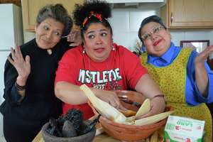 """Alicia Mena (from left), Sonia Rodriguez and Ruby Nelda Perez star in the 2016 edition of """"Las Nuevas Tamaleras,"""" which opens Friday, Nov. 25, at the Guadalupe Theater."""