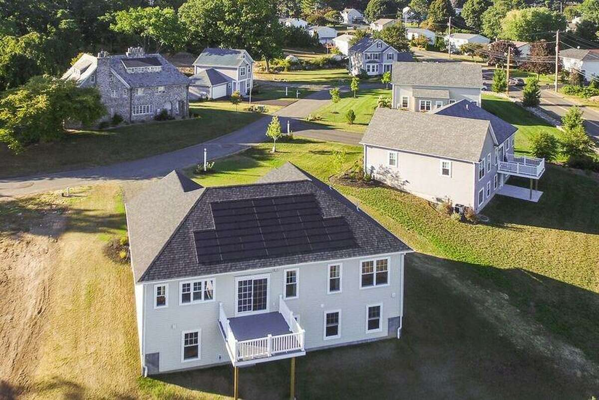An overhead look at Derby's Singer Village, built on the property of the granddaughter of sewing machine magnate Isaac Singer.