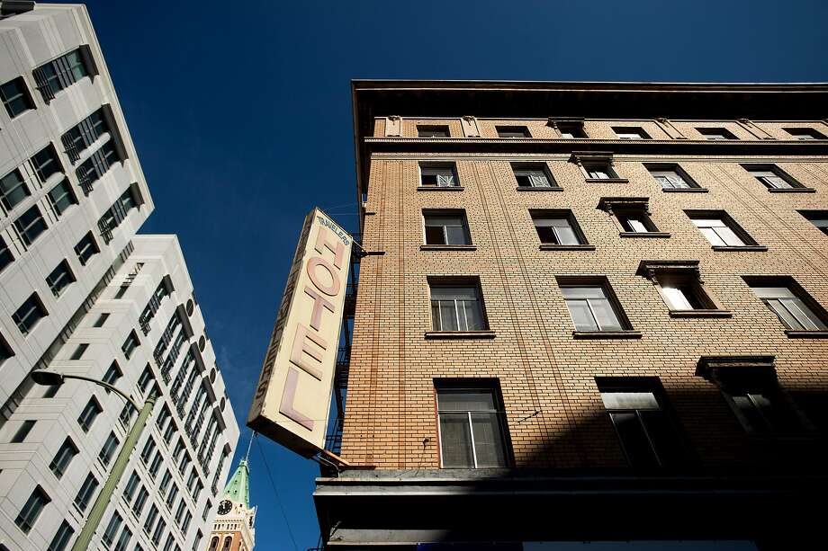 The 113-year-old, single-room-occupancy Hotel Travelers in Oakland is being converted into dorm-style housing for students and young professionals. Photo: Noah Berger, Special To The Chronicle