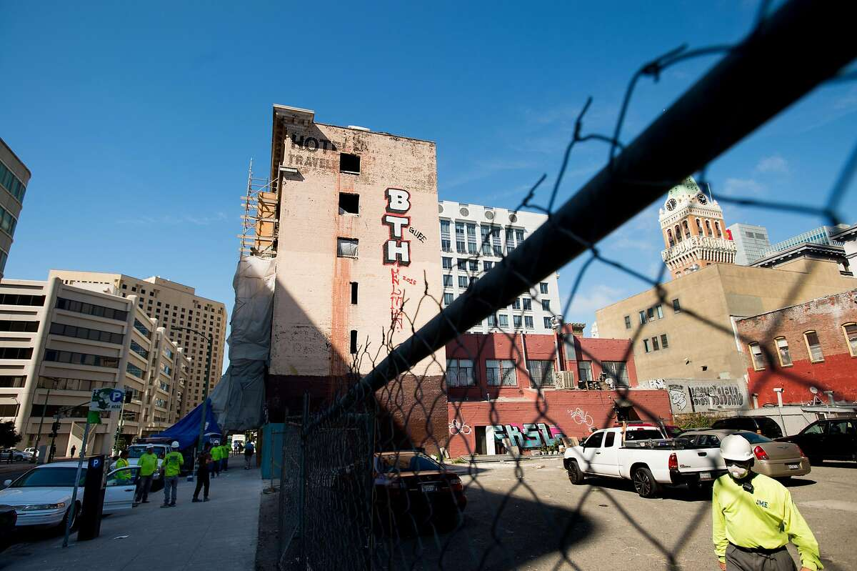The Travelers Hotel is pictured in Oakland, Calif., on Monday, Oct. 10, 2016. The century-old SRO (single-room-occupancy) hotel is being converted into market-rate housing for young professionals leaving current tenants with an uncertain future.