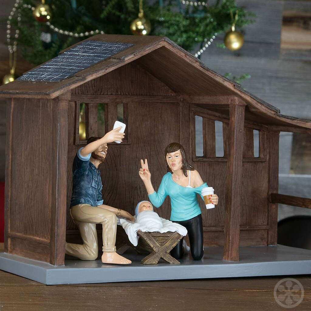 Is The Cheeky Hipster Nativity Set Blasphemous SFGate - Hipster nativity set reimagines the birth of jesus in 2016