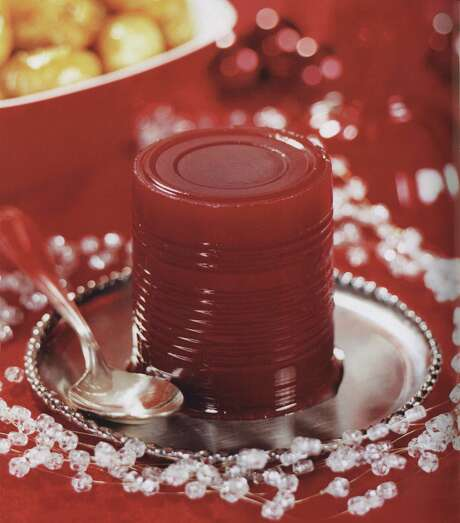 Its surface delicately sculpted by the can it comes out of, jellied cranberry sauce needs no further adornment. Photo: ULTIMATE HOLIDAY HANDBOOK