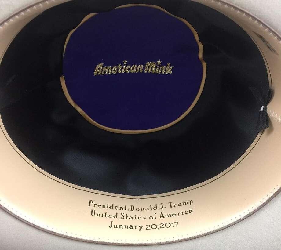 Donald Trump getting custom cowboy hat from Texas  American Hat ... f1ba04ca5988