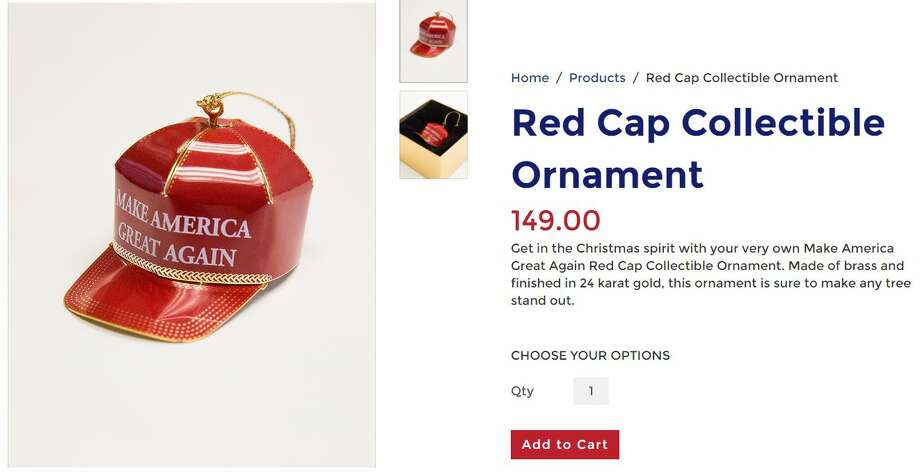 You can buy a Donald Trump hat Christmas ornament - for just $149