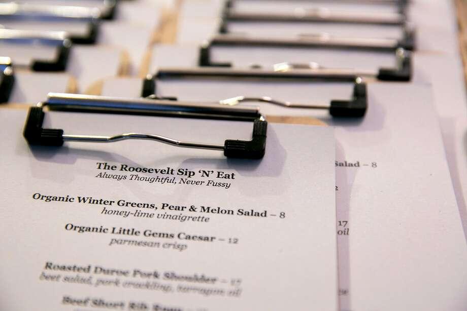 The menu at Roosevelt Sip 'N' Eat. Photo: Santiago Mejia, The Chronicle