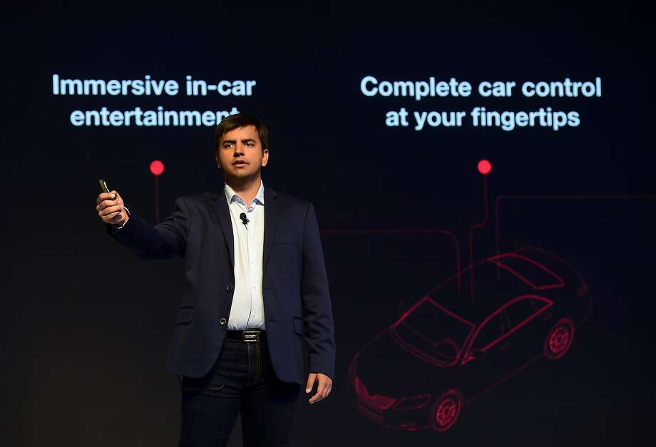 Ola CEO Bhavish Aggarwal discusses the Ola Play service that will tap into Apple Music. Photo: MANJUNATH KIRAN, AFP/Getty Images